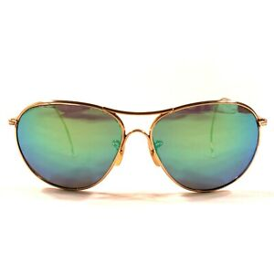 Vintage AO American Optical 1/10 12K GF Sunglasses Aviators Blue Mirror Lenses