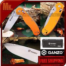 Authentic Knife GANZO G727M-OR   440C Steel   Axis Lock   G10 Handle   Orange