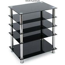 Audio Rack AV Tower Media Stand 5-Tier Electronics Equipment Shelf