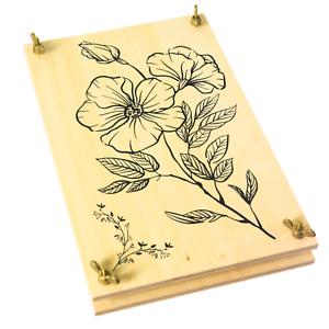 Wooden Flower Press For Adults by Berstuk - Large Flower Press Kit 27.5 x 17.5cm