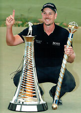 Henrik STENSON Signed Autograph 16x12 GOLF Race To DUBAI WINNER AFTAL COA