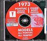 1973 Pontiac CD Shop Manual Trans Am Firebird Grand Prix Am GTO LeMans