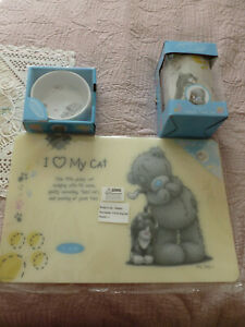 Beautiful Me to You/ Tatty teddy, ceramic cat treat jar, bowl, and a placemat