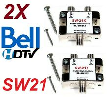 2X SW21 MULTI-SWITCH /DISH NETWORK BELL SW-21 LNB VU 82 91 110 119 HD