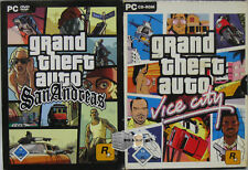 GTA Grand Theft Auto - Spiele Sammlung PC - Vice City San Andreas -mit Stadtplan
