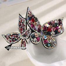 Hairpins Headwear Double Butterfly  Rhinestone Fashion Hair Clip Headdress Fiara