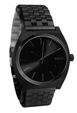 Nixon A045001 Time Teller All Black Analog Dial Stainless Steel Bracelet Watch