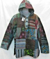Patch Cotton Hoodie Baja Camping Jacket  Hippy Outdoor Gear Surfing Hunting