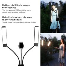 Dual Arm LED Dimmable Fill Light Lamp for Photography Studio Makeup Tattoo 220V