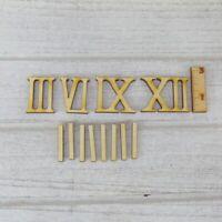 schmale 2,5 cm Römische Ziffern Zahlen 3 6 9 und 12 mit 8 Striche aus Holz