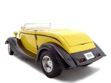 1934 FORD CUSTOM CONVERTIBLE YELLOW 1:24 DIECAST MODEL CAR UNIQUE REPLICAS 18545