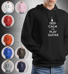Guitar Guitarist Hoodie Gift Keep Calm And Play