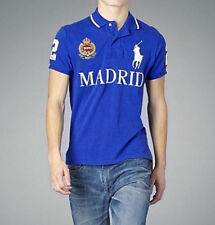Ralph Lauren Madrid España Polo Camiseta Top AZUL CUSTOM FIT-Big Pony-Talla XL