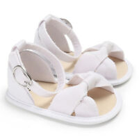 Newborn Baby Girls Crib Shoes Infant Toddler Soft Sole Summer Sandals Size 0-18M
