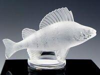 Lalique France Crystal Figurine Sculpture Paperweight PERCH FISH CAR MASCOT Mint