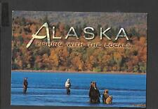 Colour Postcard  Bears Fishing with the Locals Alaska  unposted