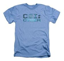 Trevco - Men's CSI Cyber Logo - Heather Light Blue - Adult T-Shirt - Medium