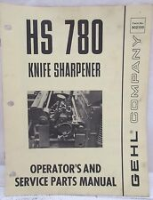 Gehl Company HS780 Knife Sharpener Operator's and Service Parts Manual