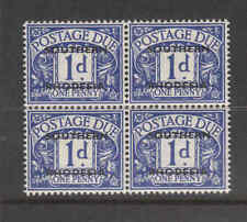 Southern Rhodesia  block of 4 overprint postage due stamps mint no gum