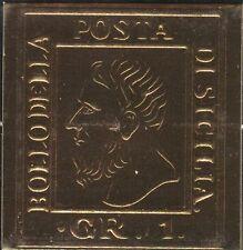 Sizilien 1 Grana - 24 Karat Gold-plated Replika - Hochprägedruck