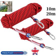 10/20m 12mm 2100kg Heavy Duty Rock Climbing Rope Cord for Outdoor Use Emergency