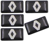 5 Logo RENAULT Volant Sticker 3D adhésif 3M Volant Habitacle Clio Duster Megane