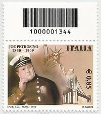 REPUBBLICA ITALIANA - 2010 Joe Petrosino 0,85 con codice a barre 1344