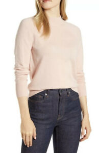 New EVERLANE Women's Cashmere Mock Neck Sweater In Pale Pink Size XS Retail $125