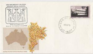 Stamp Australia generic Golden Wattle cover Jullian De La Fuente oration