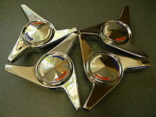 63-66 CORVETTE KNOCK-OFF OEM SPINNERS W/ CENTER CAPS-SHOW QUALITY