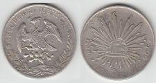 Gertbrolen  MEXIQUE 8 Reles Argent Plata 1886 Zacatecas
