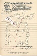 1935 PETER HAUPTMANN TOBACCO CIGAR ST LOUIS MISSOURI MO billhead horse SMOKING