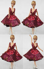 """Sherry Fashion Gown/ Outfit for Silkstone Fashion Royalty 11.5-12"""" doll(2-SFO-1"""
