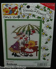 "Janlynn Cross Stitch Kit 5"" X 7"" Suzy's Zoo Friends Flowers #38-166"