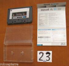Mc Musicassetta Vintage MAXELL UL90 UL 90 minuti cassetta scritte Microdisney