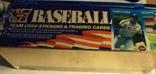 87 baseball team logo stickers & trading cards (factory sealed)