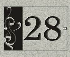 20x14cm Hausnummer aus Acrylglas inkl Abstandshalter, 8 versch Modelle, Acryl
