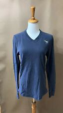 abercrombie fitch Mens Navy Blue Muscle V-neck Sweater Size Small