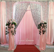 2PCS 4ftx6.5ft Silver Sequin Backdrop,Sequin Backdrop Photo Booth,Sequin Curtain