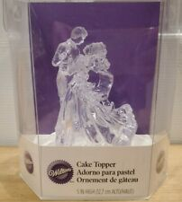 Wilton WEDDING Dance Dancing Couple CLEAR Cake Topper Bridal - New in Box