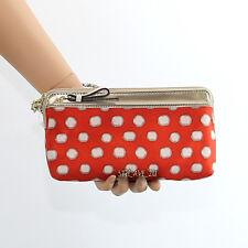 NWT Coach Poppy Mini Dot Double Zip Wallet Wristlet 49941 New RARE