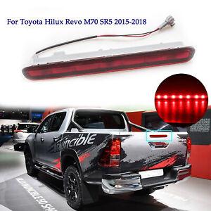 Red High Third 3rd Brake Light Lamp Tail For Toyota Hilux Revo M70 SR5 2015-2018