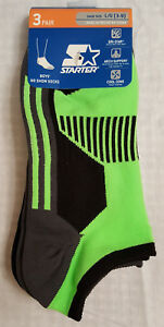 Boys New Set of 3 Starter No Show Socks: S(Shoe Sz-6-9.5)L(Shoe Sz-3-9)