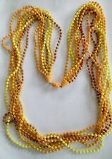 Vintage 1960's retro lucite bead necklace