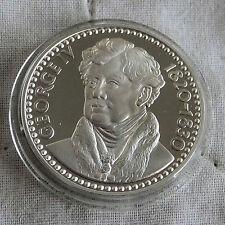 George IV 1760 -1830 32 mm caracteriza medalla de plata prueba