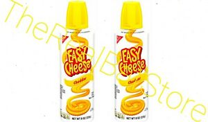 2 Nabisco Easy Cheese Cheddar Cheese Snack 8oz