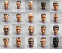 "1/6 Scale Head Sculpt Male head Fits 12"" 1:6 Action Figure Toy Soldiers Body"