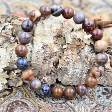 Natural Pietersite Handmade Beaded 8mm Crystal Gemstone Reiki Healing Bracelet
