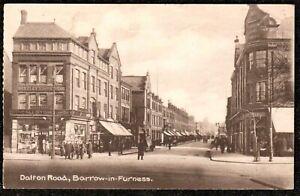 1917 BARROW IN FURNESS DALTON ROAD POSTCARD CUMBRIA