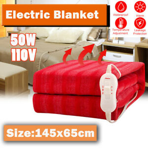 145x65cm  Electric Heated Blanket Throw Warm Winter MattressHeating Xmas gift